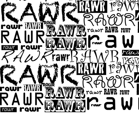 rawr! fabric by karmacranes on Spoonflower - custom fabric