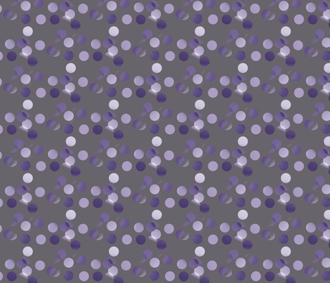 lavender_dots_on_grey fabric by vinkeli on Spoonflower - custom fabric