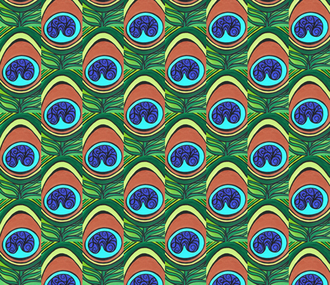peacock feather fabric by heatherpeterman on Spoonflower - custom fabric