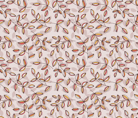 Tracie Whimsical Leaf by WRKDesigns fabric by wrkdesigns on Spoonflower - custom fabric