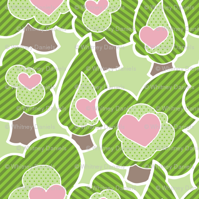 Violet - Forest of Cute Trees by WRKDesigns