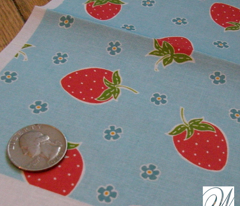 Kellie - Strawberry and Flower Ditsy Pattern by WRKDesigns