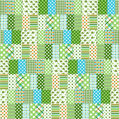 green_turtle_spots_and_dots_quilt fabric by vinkeli on Spoonflower - custom fabric