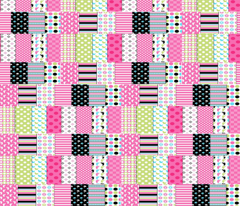 pink_black_umbrella_drop_spots fabric by vinkeli on Spoonflower - custom fabric