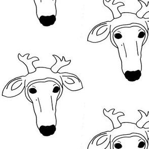 Lucky wears a Deer Hat