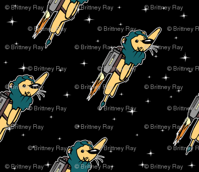 Rocket Lions in the Sky
