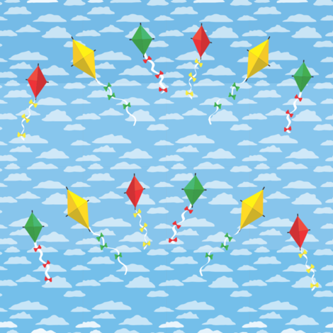 Small Kites fabric by xkateburnsx on Spoonflower - custom fabric