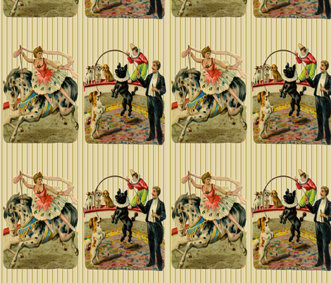 Vintage Circus Ring  fabric by icarpediem_ on Spoonflower - custom fabric