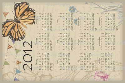 2012 Tea Towel Calendar