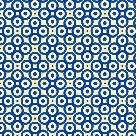 Retro Blue Eyes fabric by stoflab on Spoonflower - custom fabric