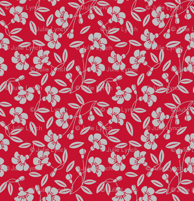 Japanese blossom red