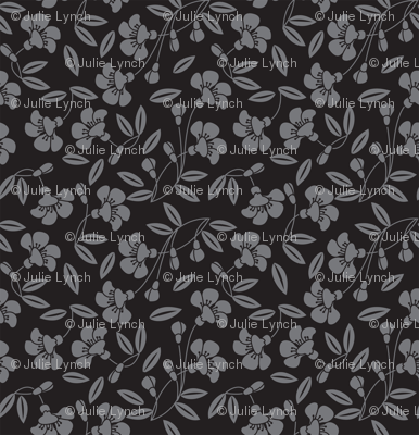Japanese blossom black
