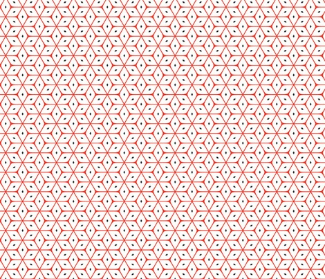 Red & White Dice fabric by stoflab on Spoonflower - custom fabric