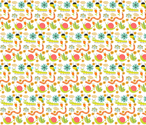 Spring Critters  fabric by icarpediem on Spoonflower - custom fabric