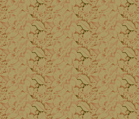 Peachy Cream Elegant Rose fabric by charldia on Spoonflower - custom fabric