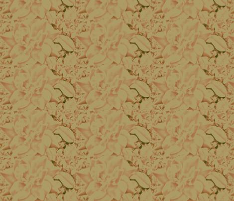 Peachy Cream Elegant Rose fabric by charldia on Spoonflower - custom fabric