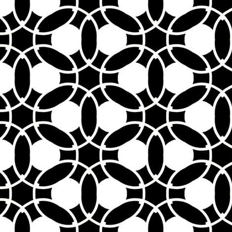 Black & White Chain fabric by stoflab on Spoonflower - custom fabric