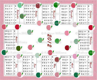 2012 Calendar - Apples!