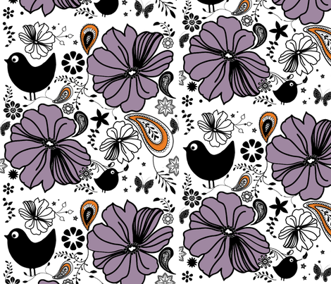 summer_birds fabric by snork on Spoonflower - custom fabric