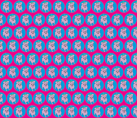Birthday dog fabric by isabella_asratyan on Spoonflower - custom fabric