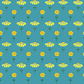 Daisies on turquoise