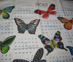 Butterfly Painting Calendar 2012
