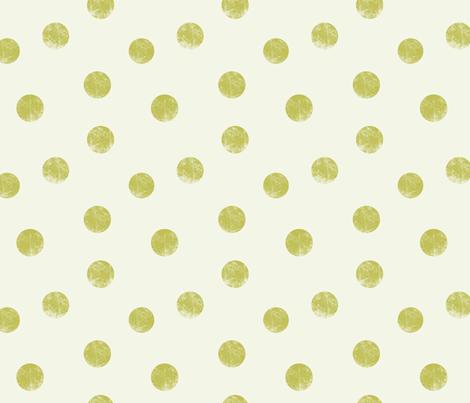 Big dots olive fabric by ravynka on Spoonflower - custom fabric