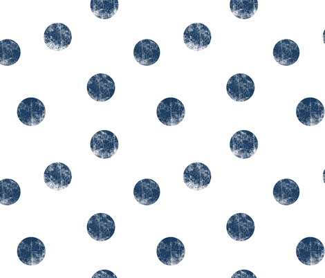 Big dots navy fabric by ravynka on Spoonflower - custom fabric