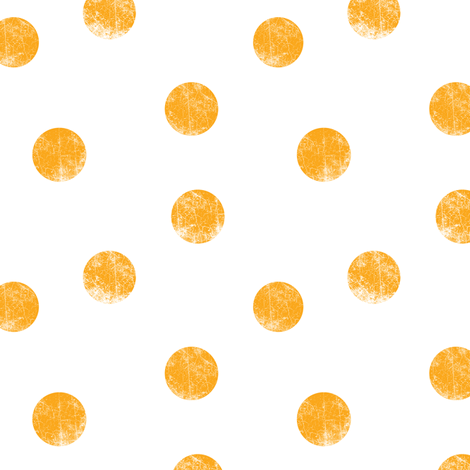 Big dots orange fabric by ravynka on Spoonflower - custom fabric
