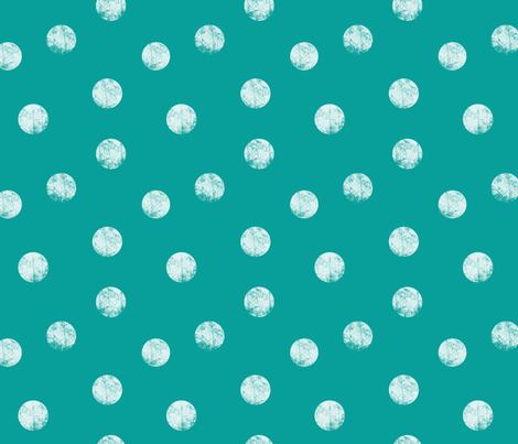 Big dots teal fabric by ravynka on Spoonflower - custom fabric