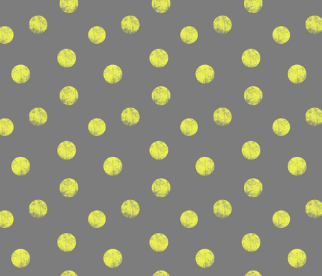 Big dots yellow fabric by ravynka on Spoonflower - custom fabric