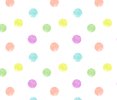Big dots pastel fabric by ravynka on Spoonflower - custom fabric