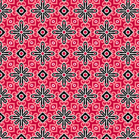Matchsticks - Red fabric by siya on Spoonflower - custom fabric