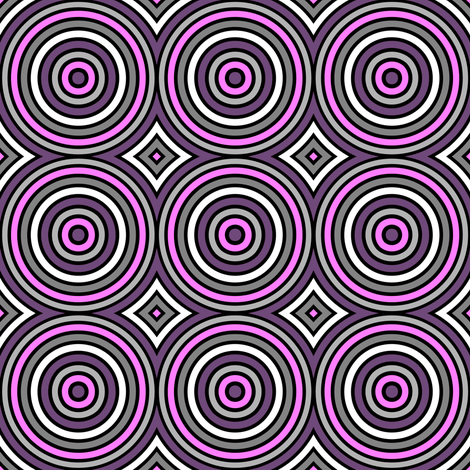 Crazy Circle - Purple fabric by siya on Spoonflower - custom fabric