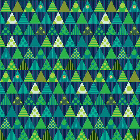 Festive in Green fabric by spellstone on Spoonflower - custom fabric