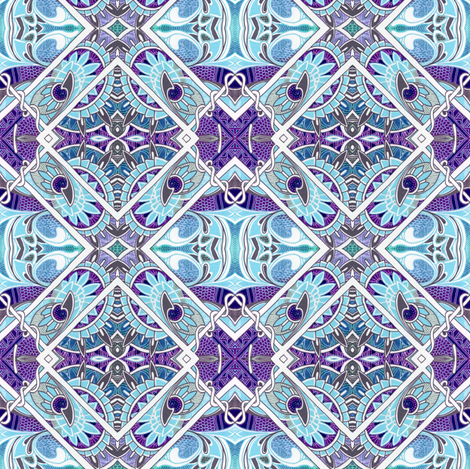 Blue and Purple Diamond Garden fabric by edsel2084 on Spoonflower - custom fabric