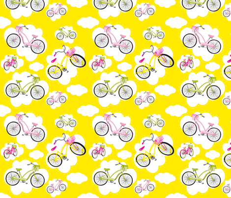 Bike Heaven fabric by deesignor on Spoonflower - custom fabric