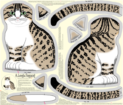 A Lovely Pussycat fabric by victorialasher on Spoonflower - custom fabric