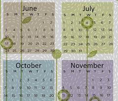 Modern quilt calendar 2012