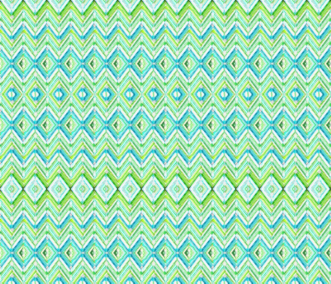 Zig Zag knit in aqua fabric by joanmclemore on Spoonflower - custom fabric