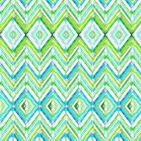 Zig Zag knit in aqua fabric by joanmclemore on Spoonflower - custom fabric