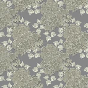 Blossoms silver matte finish