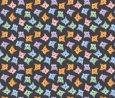 Multi-Color Corgi - large fabric by ms_emilie on Spoonflower - custom fabric