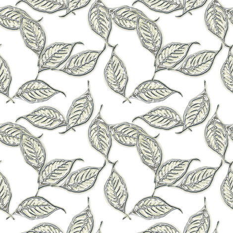 Leaves of Mercury fabric by joanmclemore on Spoonflower - custom fabric