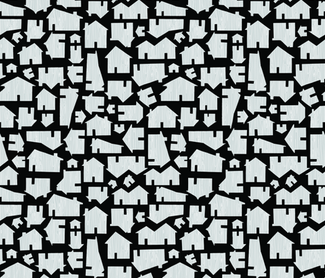 Faux Bois Houses - Black and Grey fabric by jesseesuem on Spoonflower - custom fabric