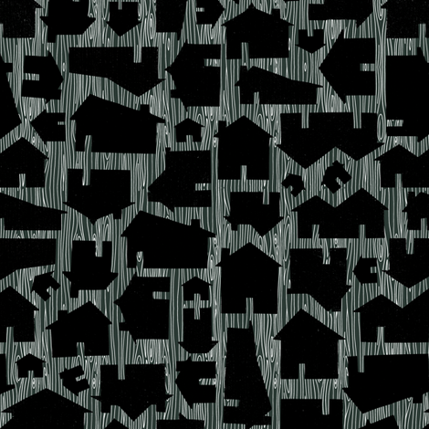 Solid Houses - Wonky Woodgrain Background fabric by jesseesuem on Spoonflower - custom fabric