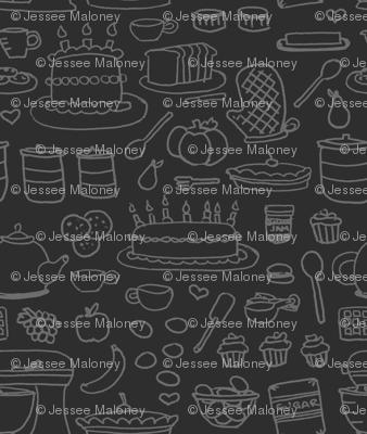 Sketchy Kitchen - Dark Grey
