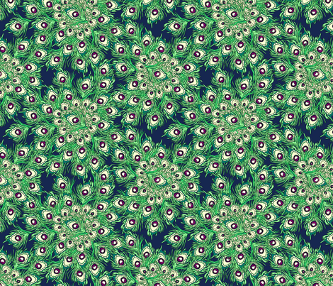 Christmas Peacock fabric by glimmericks on Spoonflower - custom fabric