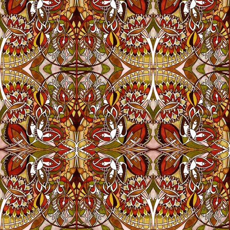 Busy Autumn Day fabric by edsel2084 on Spoonflower - custom fabric