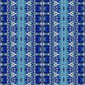 Deco Blues (vertical stripe)